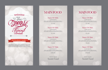 restaurant  menu: vector vintage food design template. menu restaurant brochure.