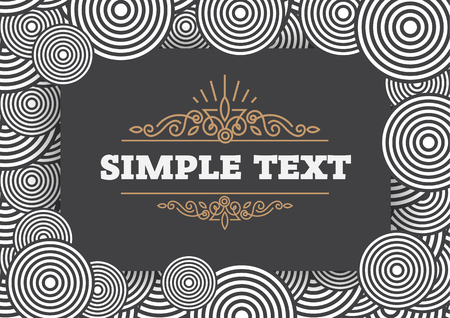 Pattern and frame broad template, seamless pattern in vector EPS file.
