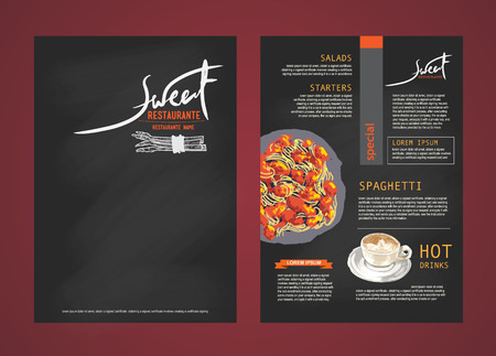 people eating restaurant: Restaurant menu design.