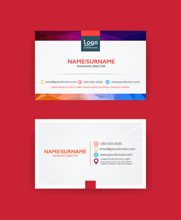 Modern business card template. 矢量图像
