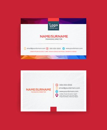 Modern business card template. Vectores