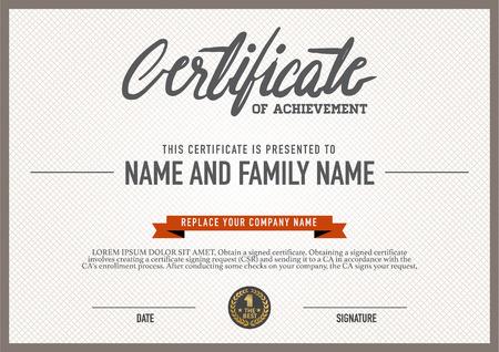 grado: Plantilla de certificado vector.