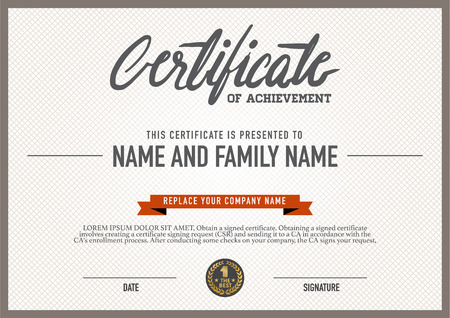 seal: Vector certificate template. Illustration