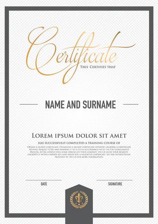 decorative border: Premium vector design certificate