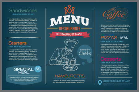 cafe menu: menu restaurant template.