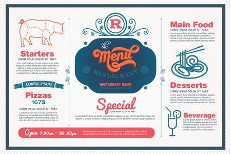 menu de postres: men� de plantilla de restaurante.