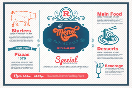 web menu: menu restaurant template.
