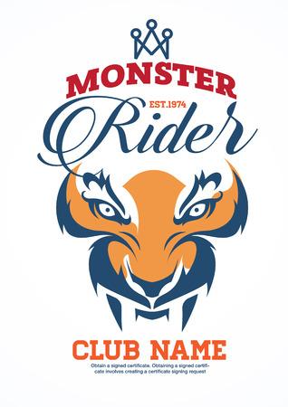 racing wings: motor logo graphic design Illustration