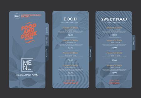 vector menu template.