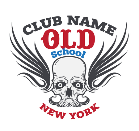 angel cemetery: motor logo graphic design. logo, Sticker, label, arm Illustration