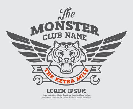 logo grafisch ontwerp. embleem, sticker, etiket, arm, motorsport.