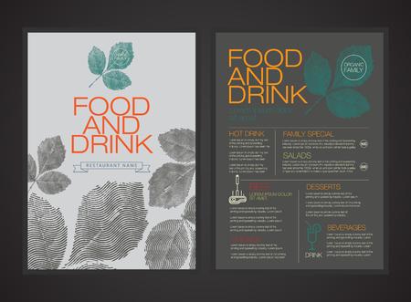 menu de postres: menú vector portada del libro flyer folleto template.magazine.