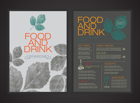drink food: vector menu template.magazine brochure flyer book cover.