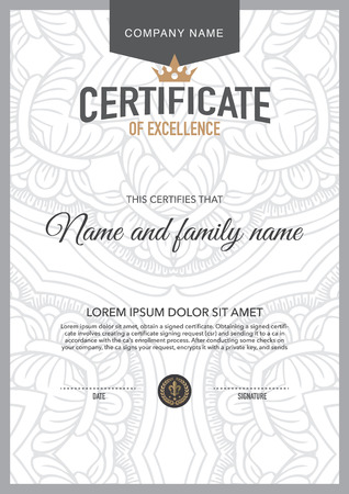 Vector certificate template. 版權商用圖片 - 44547881