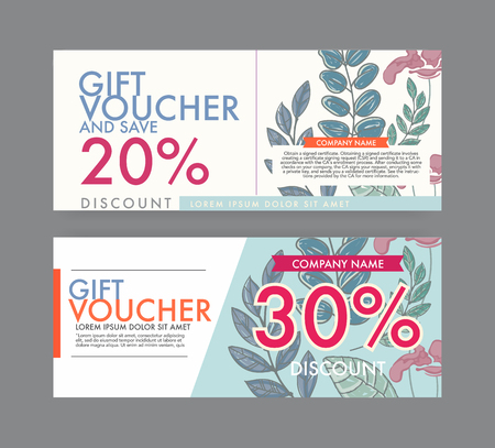gift Voucher template  with vintage style.