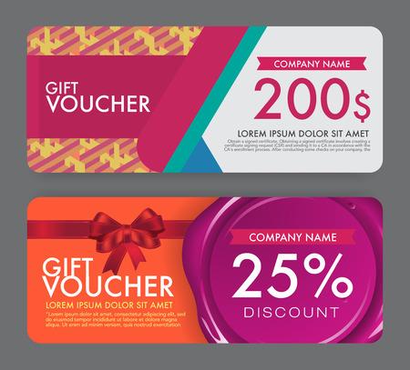 reward card: gift Voucher template.