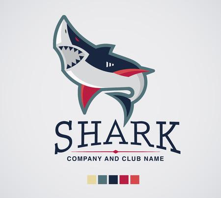 shark: Shark logo sport extreme and business.
