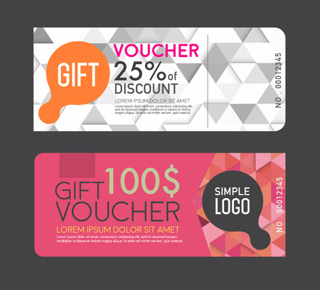 discount tag: gift Voucher template.