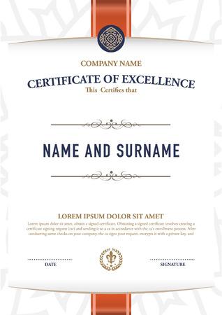 Vector certificate template. 向量圖像