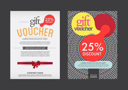 banknote: modern vector gift voucher template. Illustration