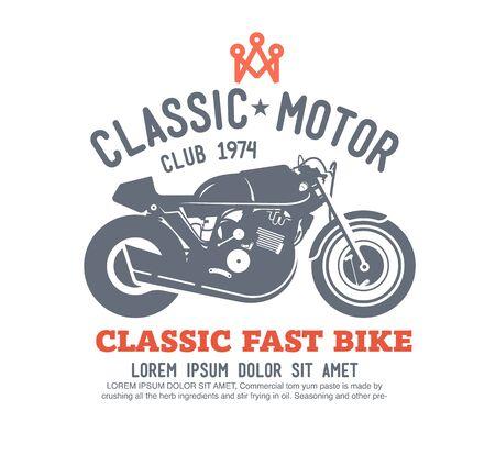 motors: Logo motor club vector.