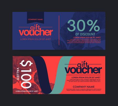 facture restaurant: modern vector gift voucher template. Illustration