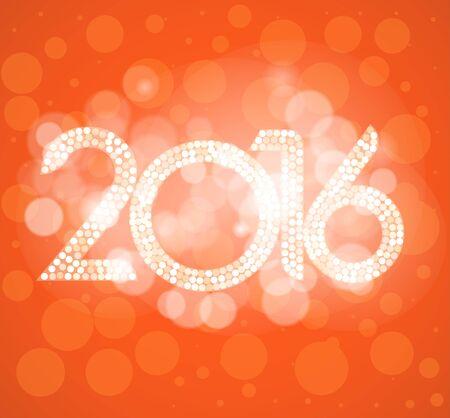 Happy new year 2016. 向量圖像