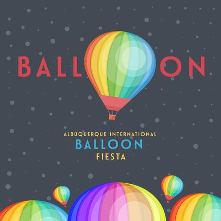 Balloon vector en albuquerque internationale ballon fiesta. Stock Illustratie