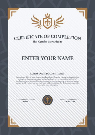 borders abstract: Vector certificate template. Illustration