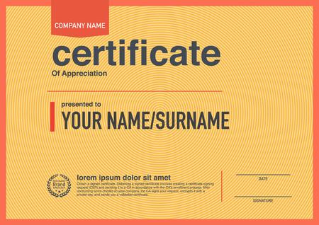 award certificate: Modern design certificate.