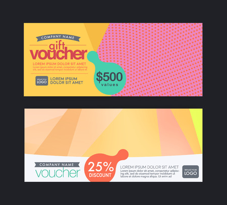 modern pastels color gift voucher template.