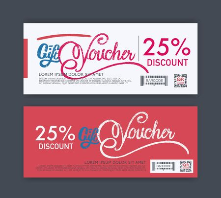 free border: vector gift voucher template. Illustration