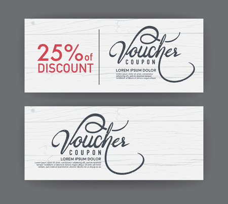 vector gift voucher template. Illustration