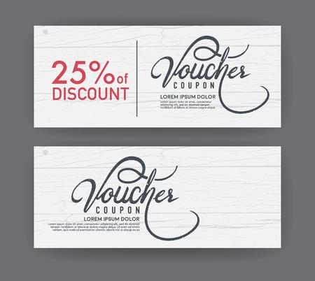 discounts: vector gift voucher template. Illustration