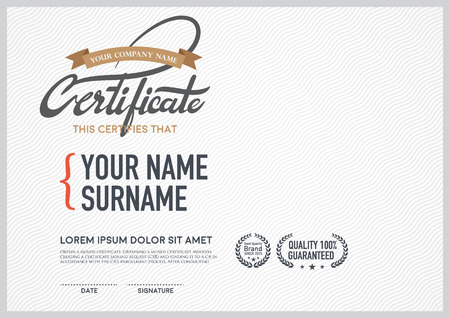 diploma certificate: luxury vector certificate template.