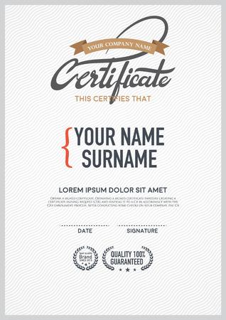 luxury vector certificate template.