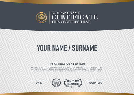 Vector certificaat sjabloon.