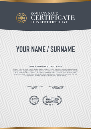 Vector certificate template. Imagens - 47247548