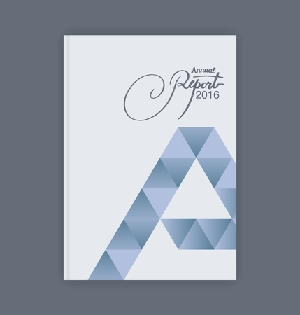 triangle shaped: Annual report template. Triangle shaped diamond-shaped tiles as well as A.