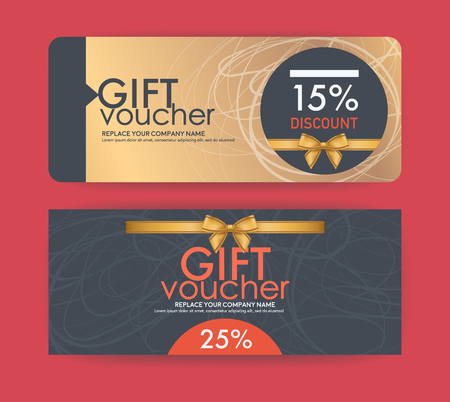 smart card: vector gift voucher template. Illustration
