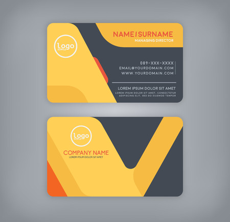 company name: business and name card template.