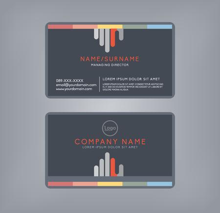 Vector modern clean business card template. Flat design