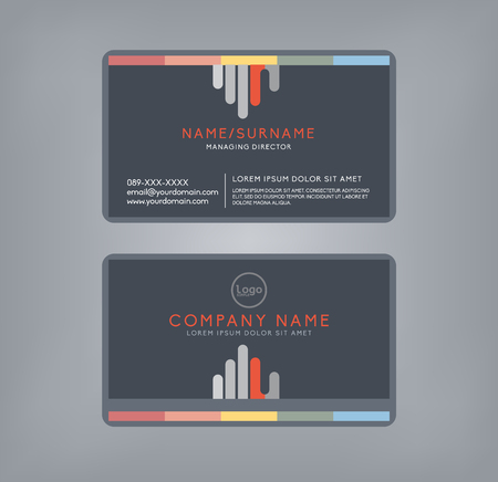 esp cards: Vector modern clean business card template. Flat design