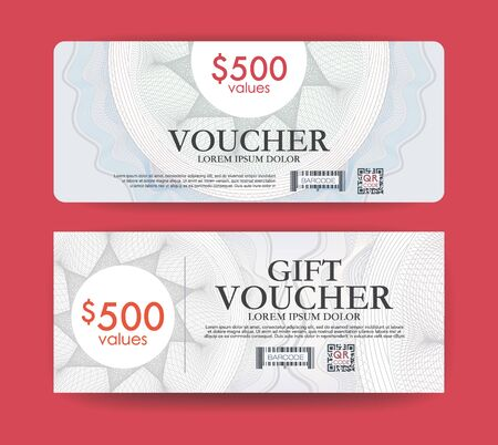 guilloche: gift voucher modern guilloche template. Illustration