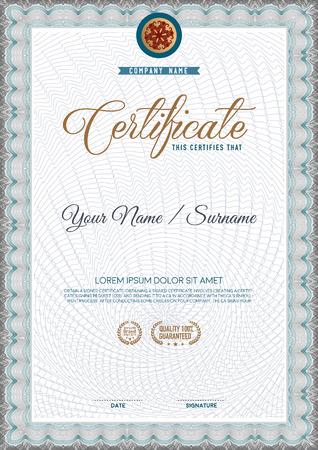 Vector certificate template. 免版税图像 - 46313776