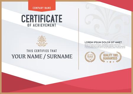 certificate template: Vector certificate template. Illustration