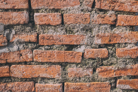 assembled: Photo red brick wall And a beautiful profile. Suitable for the crate and be assembled in a variety of media.