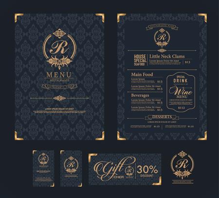 restaurante: vector restaurante modelo de menu.