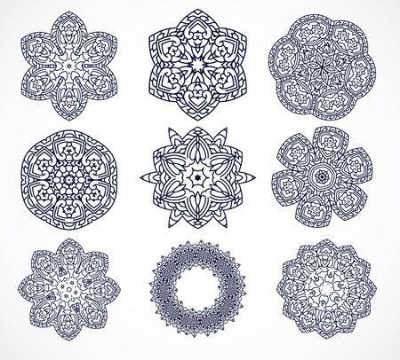 thai motifs: Mandalas. Vintage decorative elements. Hand drawn background. thai,Asia, ottoman motifs Illustration
