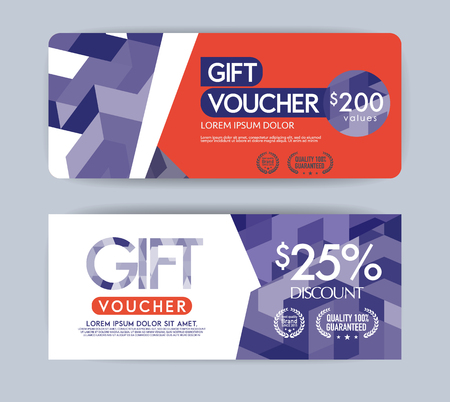 free border: Vector gift voucher template.